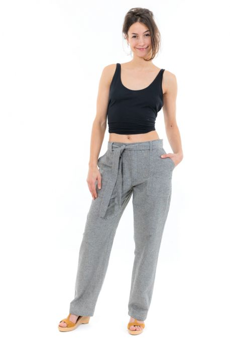 Pantalon droit mixte cool chic face