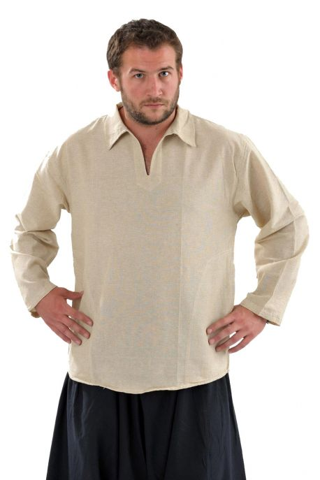 Chemise col relax chanvre