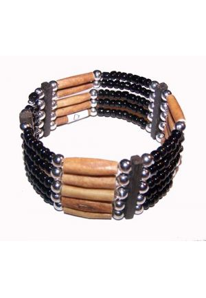 BR210 Bamboo and beads Bracelet