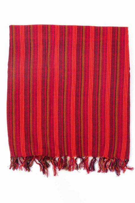 Foulard cheche rayures babacool rouge multi