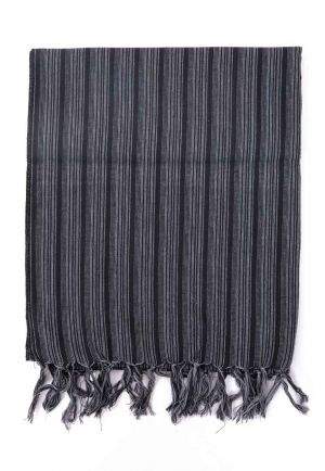 Foulard cheche baba cool stripes noir gris