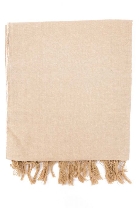 Foulard doux natural chic beige sable