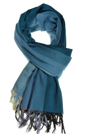 Cheche foulard coton basic ethnic degrade bleu