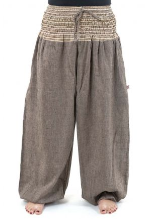 Pantalon sarouel grande taille mixte natural chanvre chine