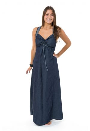 Robe longue jean denim doux originale Taly