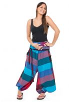 Sarouel femme faux effet jupe new madras girly